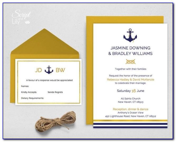Nautical Wedding Invitation Designs
