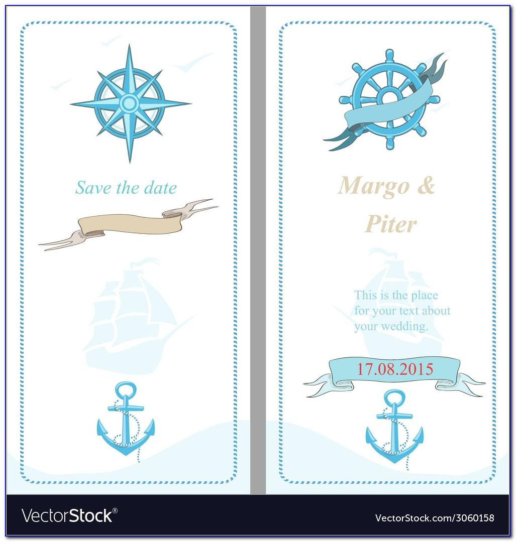 Nautical Wedding Invitations Templates