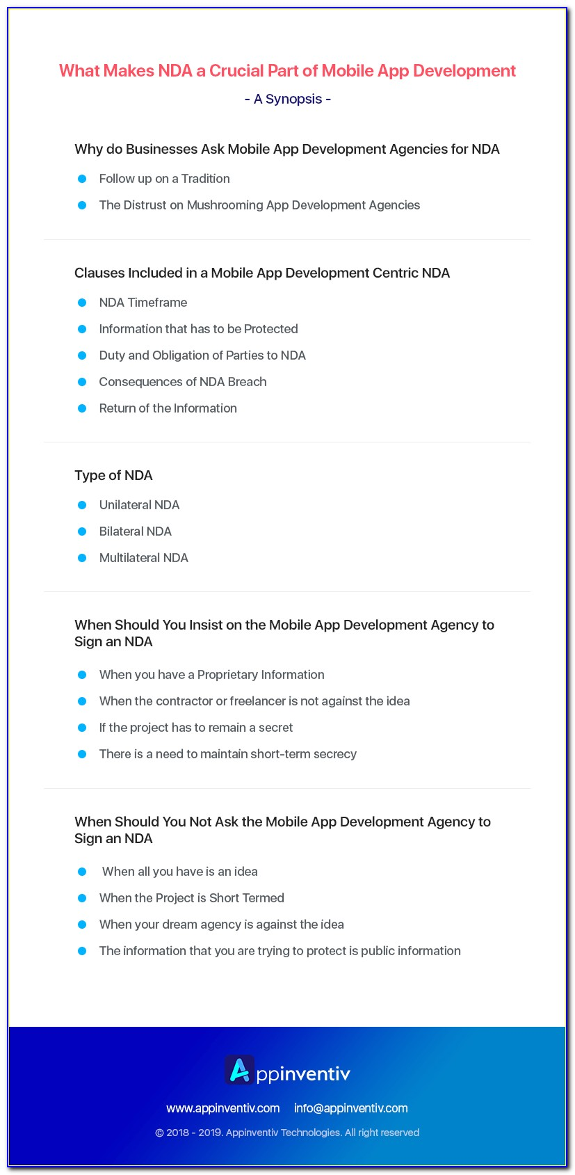 Nda For Mobile App Development Template