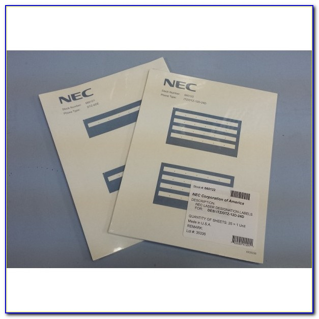 Nec Dsx Phone Label Template