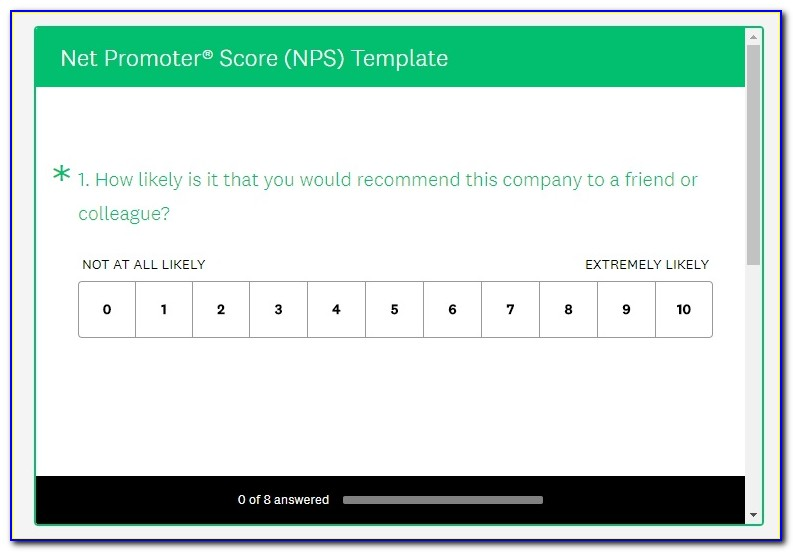Net Promoter Score Nps Survey Template
