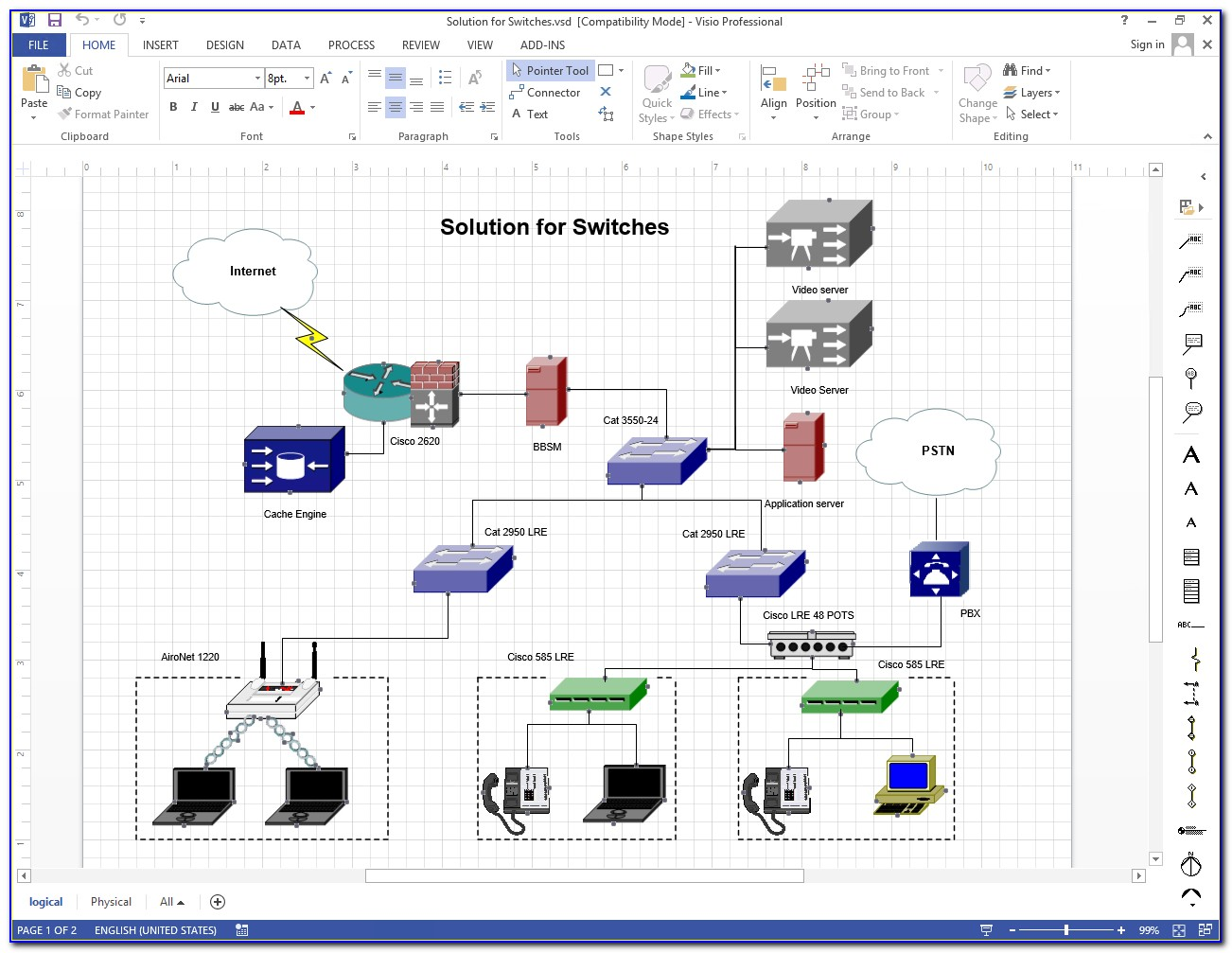 Network Diagram Visio Template Download
