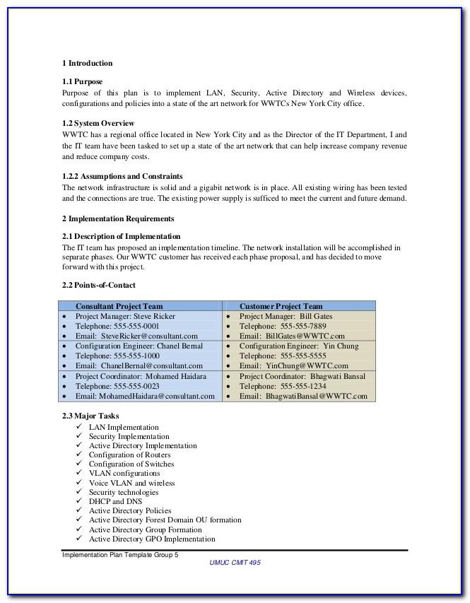 Network Security Plan Sample