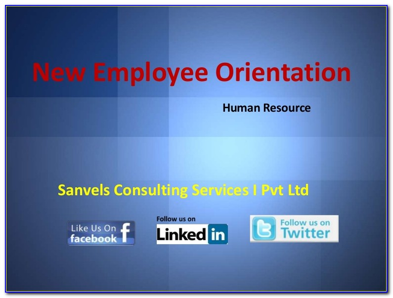 New Employee Orientation Presentation Ppt