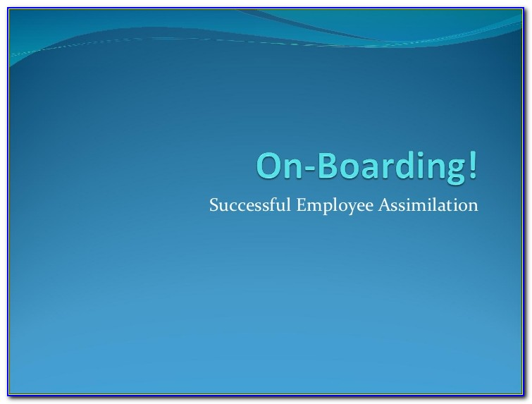 New Employee Orientation Program Sample Ppt