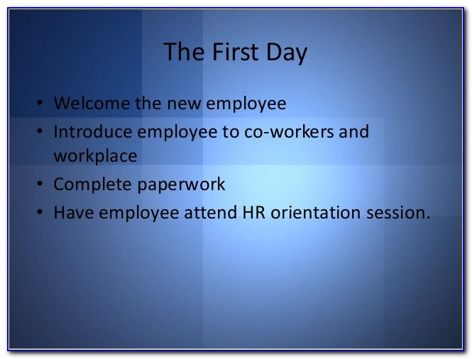 New Employee Orientation Sample Forms