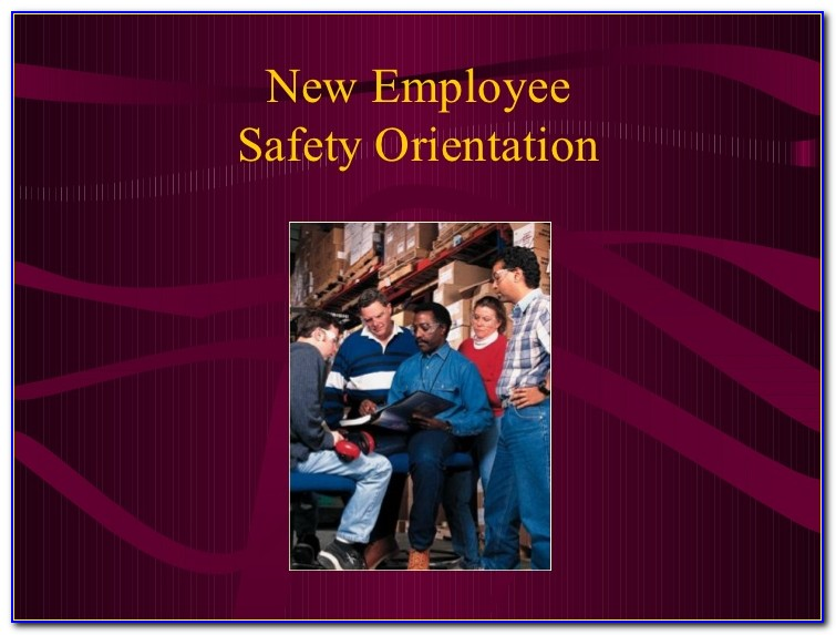New Employee Safety Orientation Checklist Sample