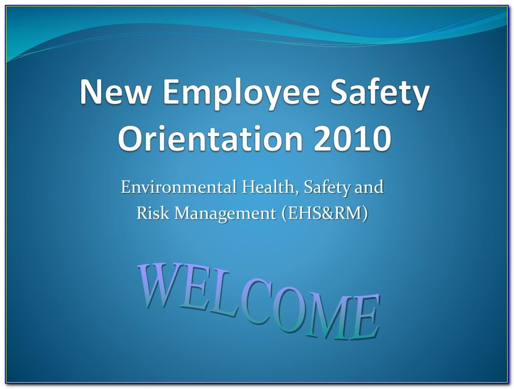 New Employee Safety Orientation Ppt Presentation