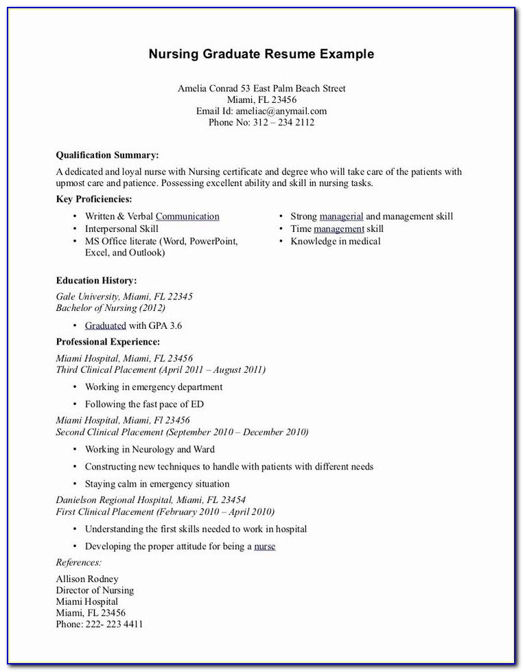 New Grad Nurse Practitioner Resume Examples