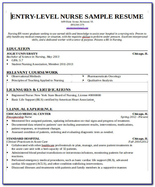 New Grad Nurse Practitioner Resume Samples