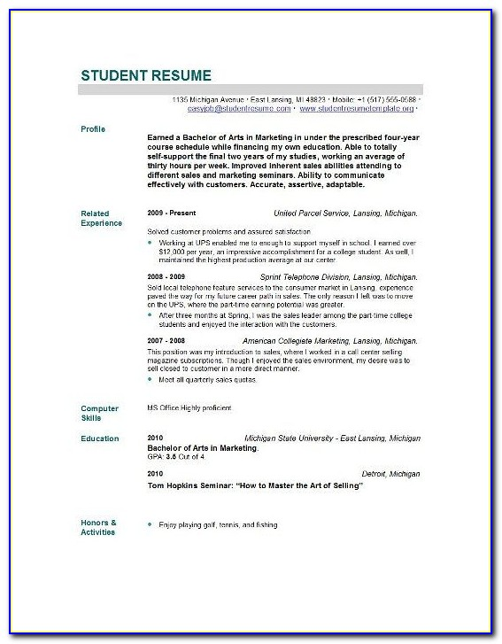New Graduate Rn Resume Template