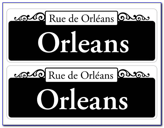 New Orleans Street Signs Template Free