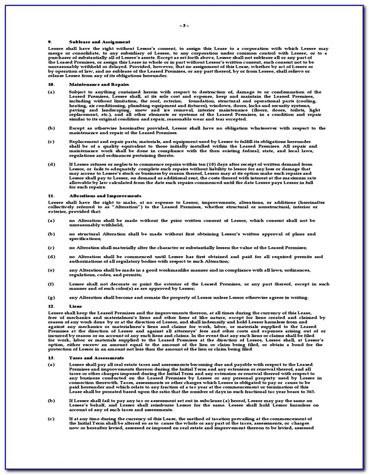 New York Rent Lease Agreement Forms