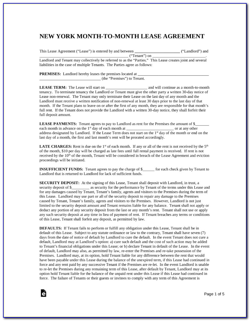 New York State Lease Agreement Template