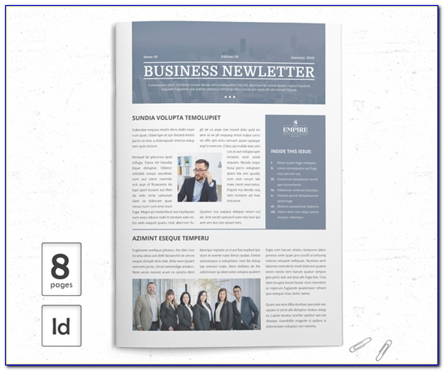 Newsletter Layout Indesign Free
