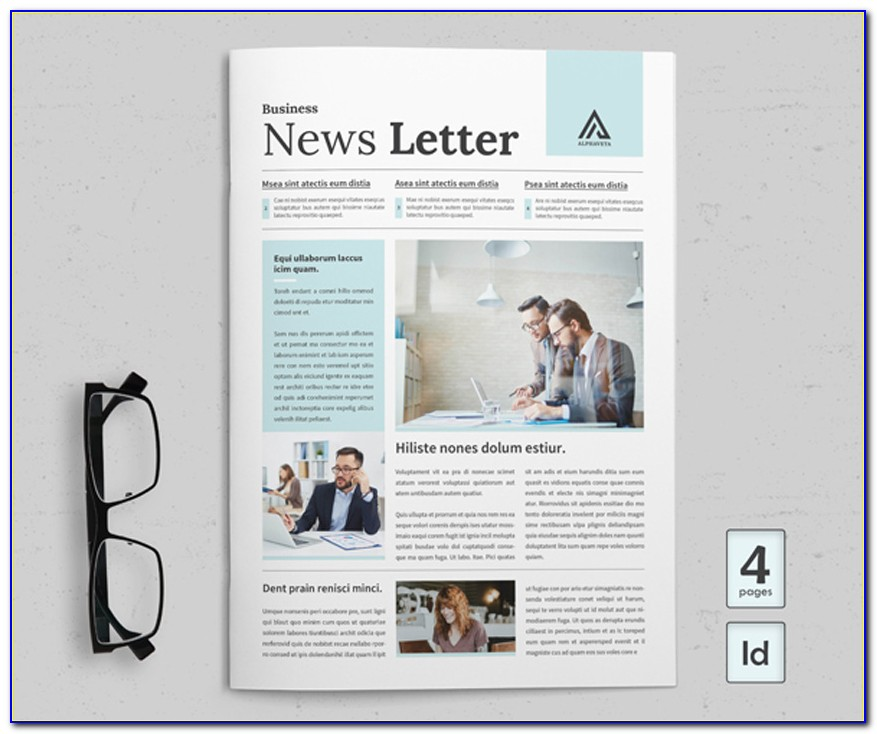 Newsletter Template Indesign Download