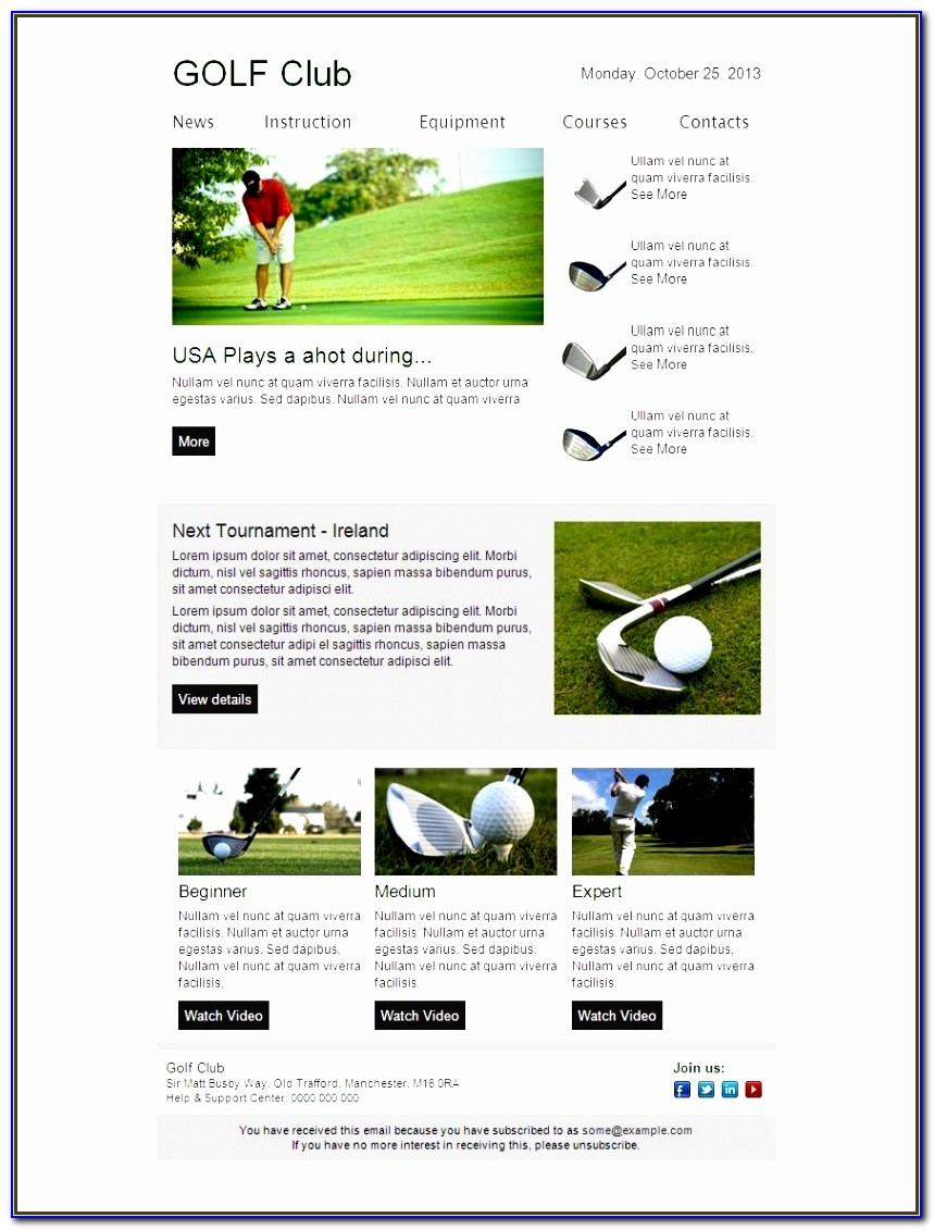 Newsletter Template Outlook 2013