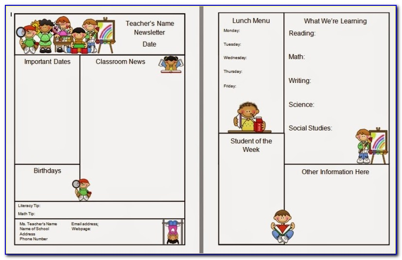Newsletter Templates For Teachers Word