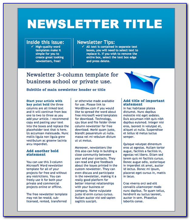 Newsletter Templates Free For Teachers