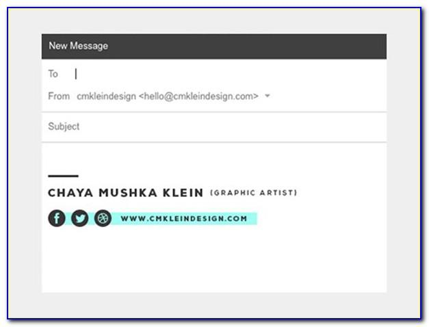 Nice Email Signature Examples