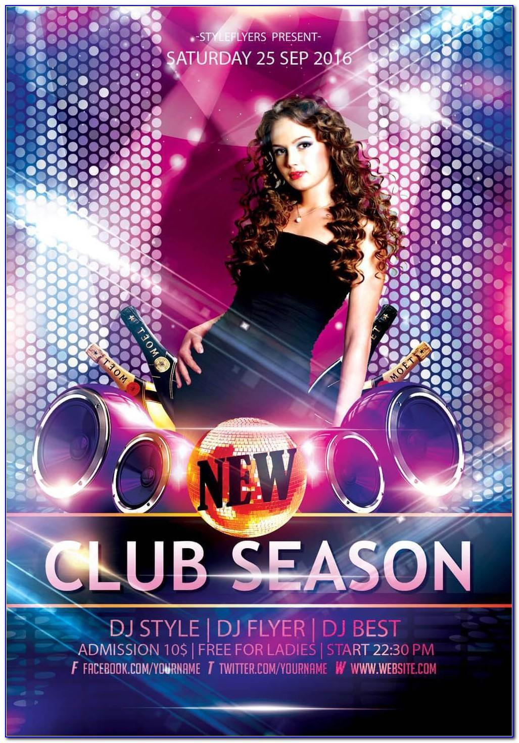 Nightclub Poster Template Psd