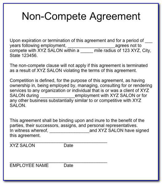 Non Disclosure Agreement Contract Template