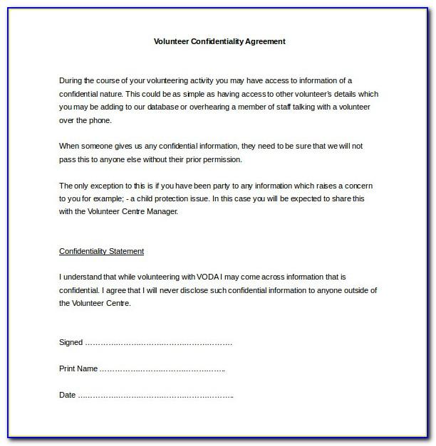 Non Disclosure Agreement Template Uk Pdf