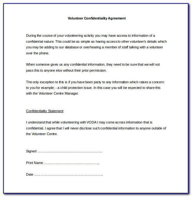 Non Disclosure Agreement Template Uk Pdf
