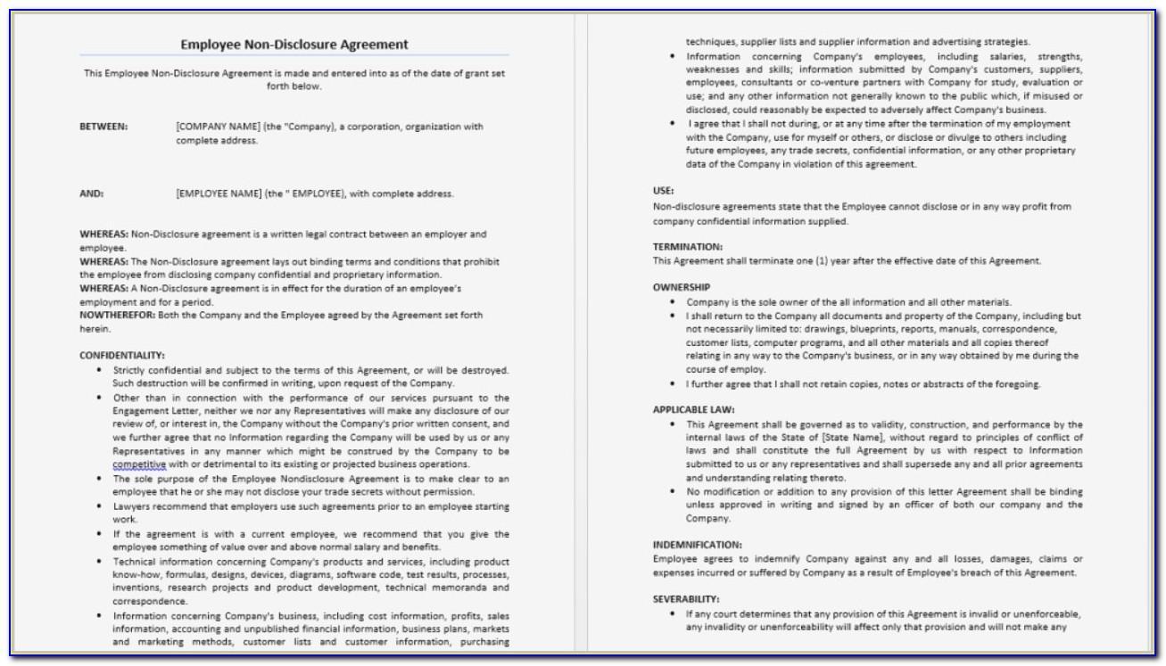 Non Disclosure Non Circumvention Agreement Form