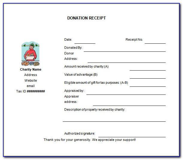 Non Profit Donation Receipt Letter Sample
