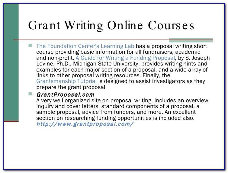 Non Profit Grant Proposals