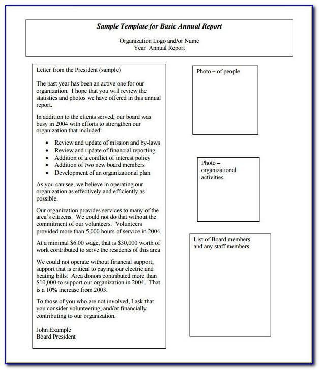 Non Profit Organisations Annual Report Template