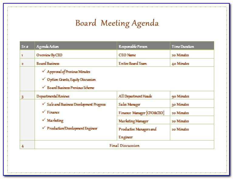 Nonprofit Board Meeting Minutes Sample