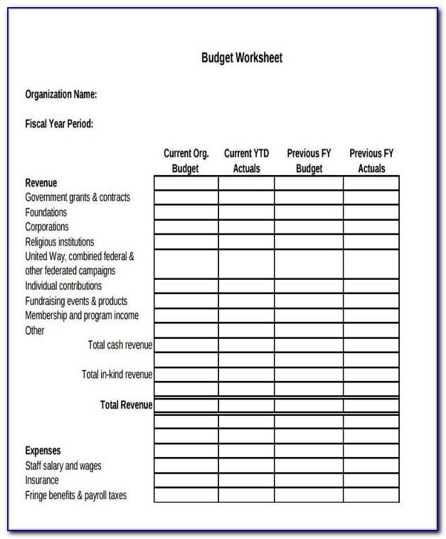 Nonprofit Capital Budget Example