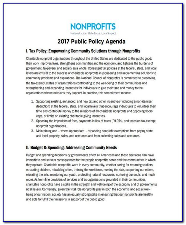 Not For Profit Policies And Procedures Template