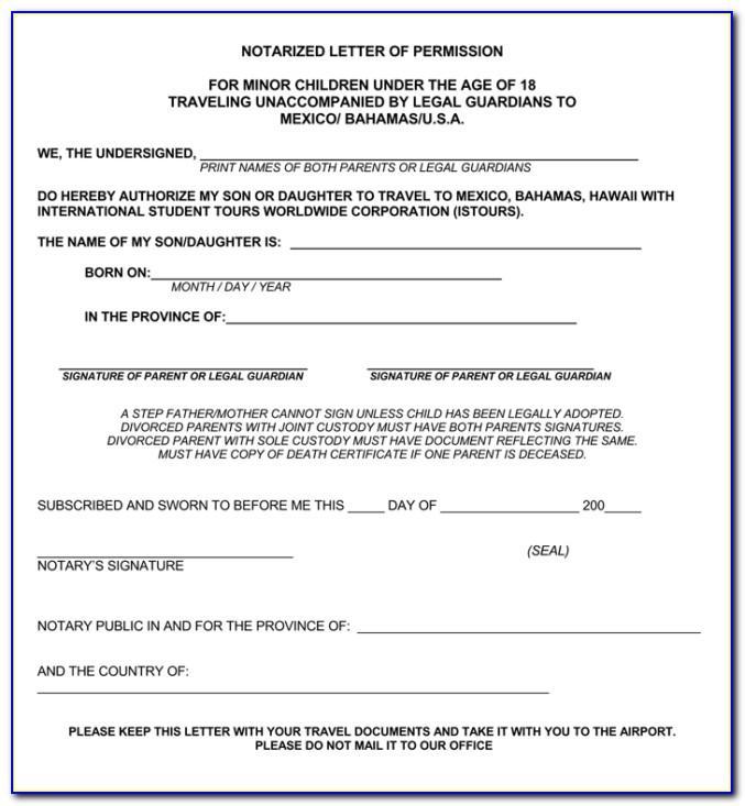 Notarized Affidavit Sample Texas