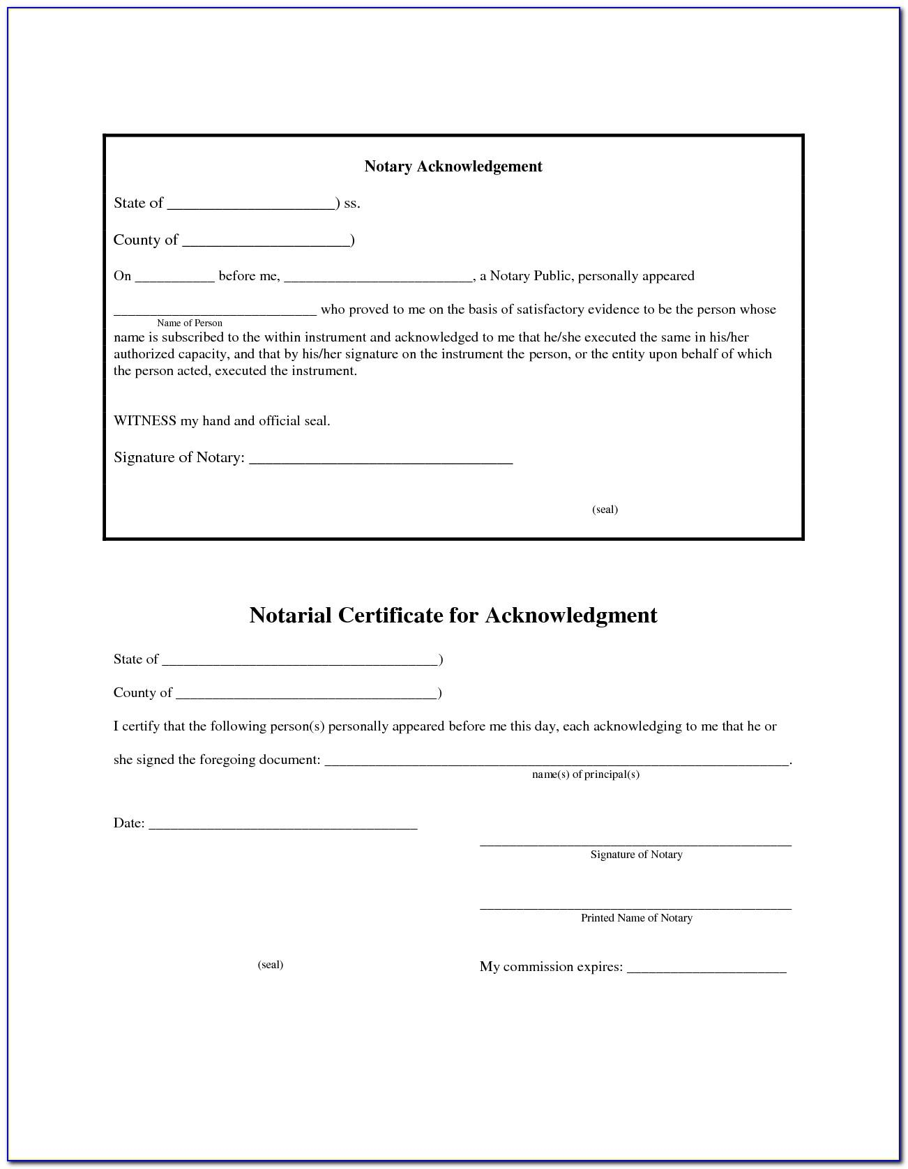 notary form template florida