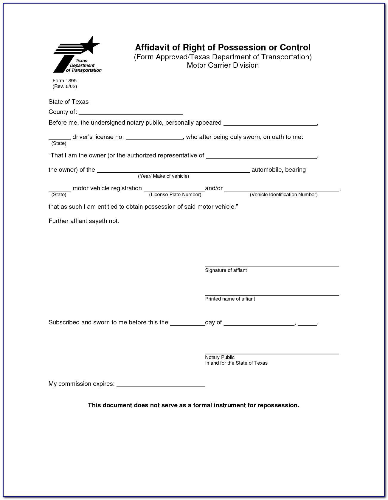 Notary Form Template North Carolina