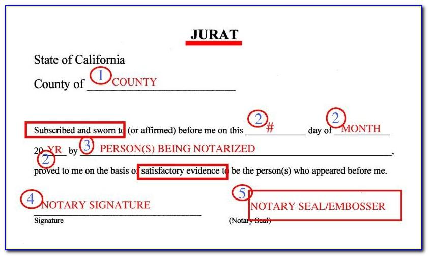 Notary Form Template Washington State