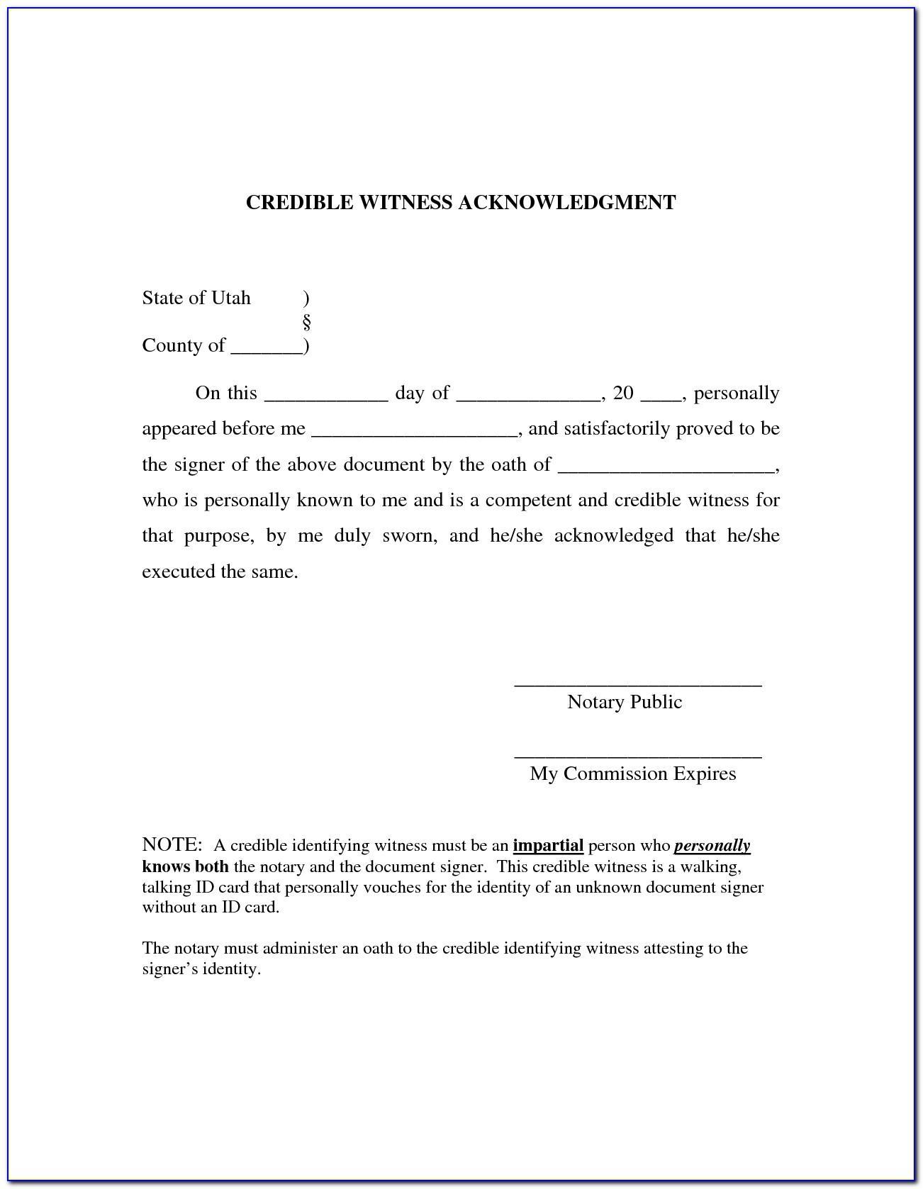 Notary Forms North Carolina
