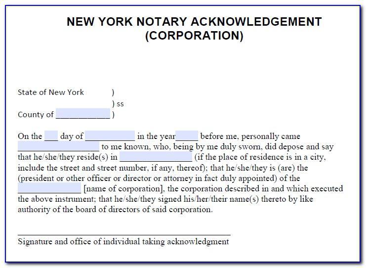Notary Public Sworn Statement Ny