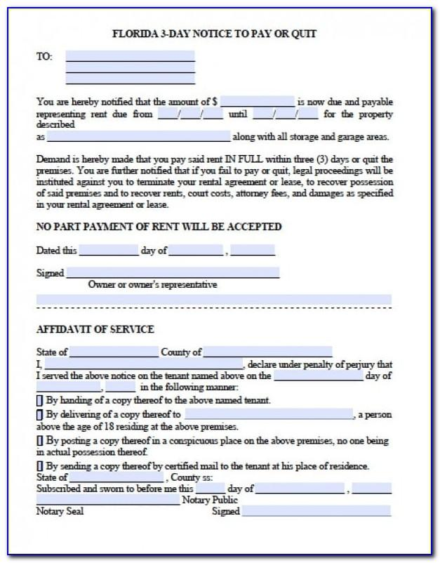 Notice Of Eviction Template Free