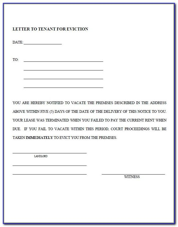 Notice Of Eviction Template South Africa