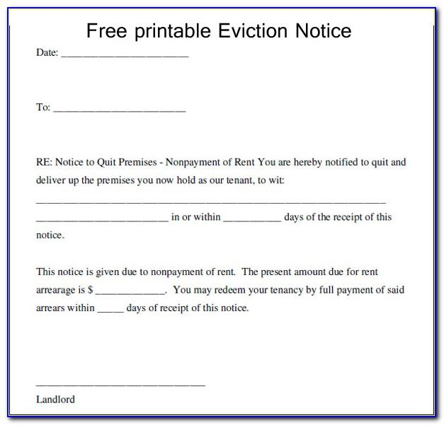 Notice Of Eviction Template Uk