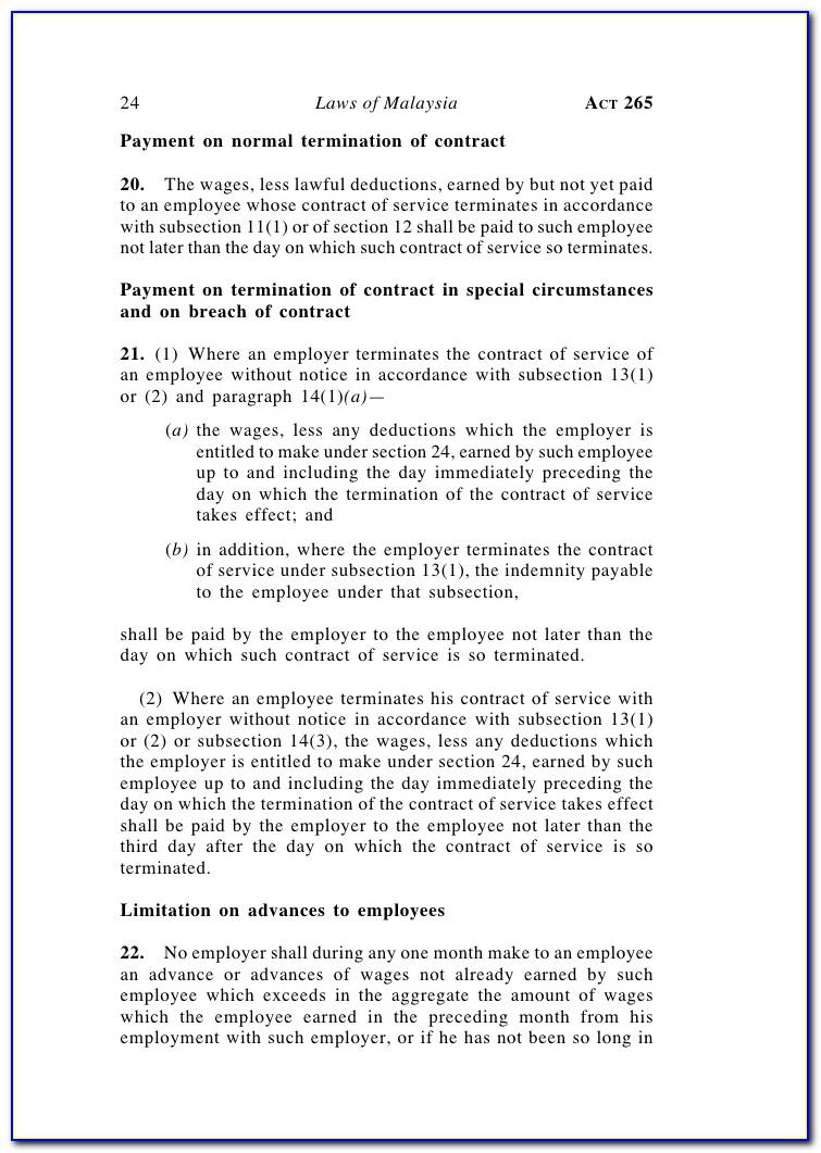 Notice Of Termination Employment Act 1955