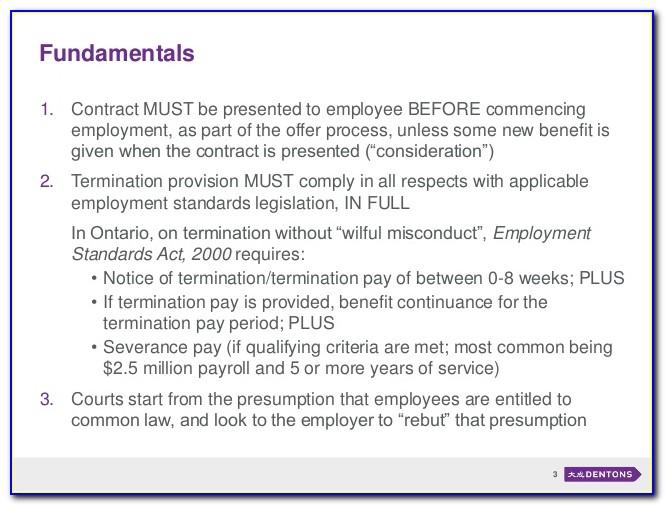 Notice Of Termination Of Employment Contract Sample Letter South Africa