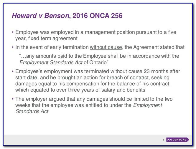 Notice Of Termination Of Employment Contract Sample