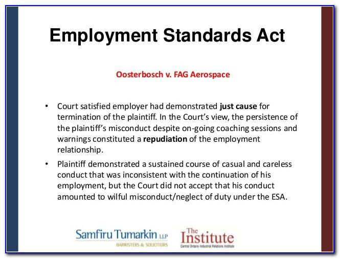Notice Termination Of Employment Sample