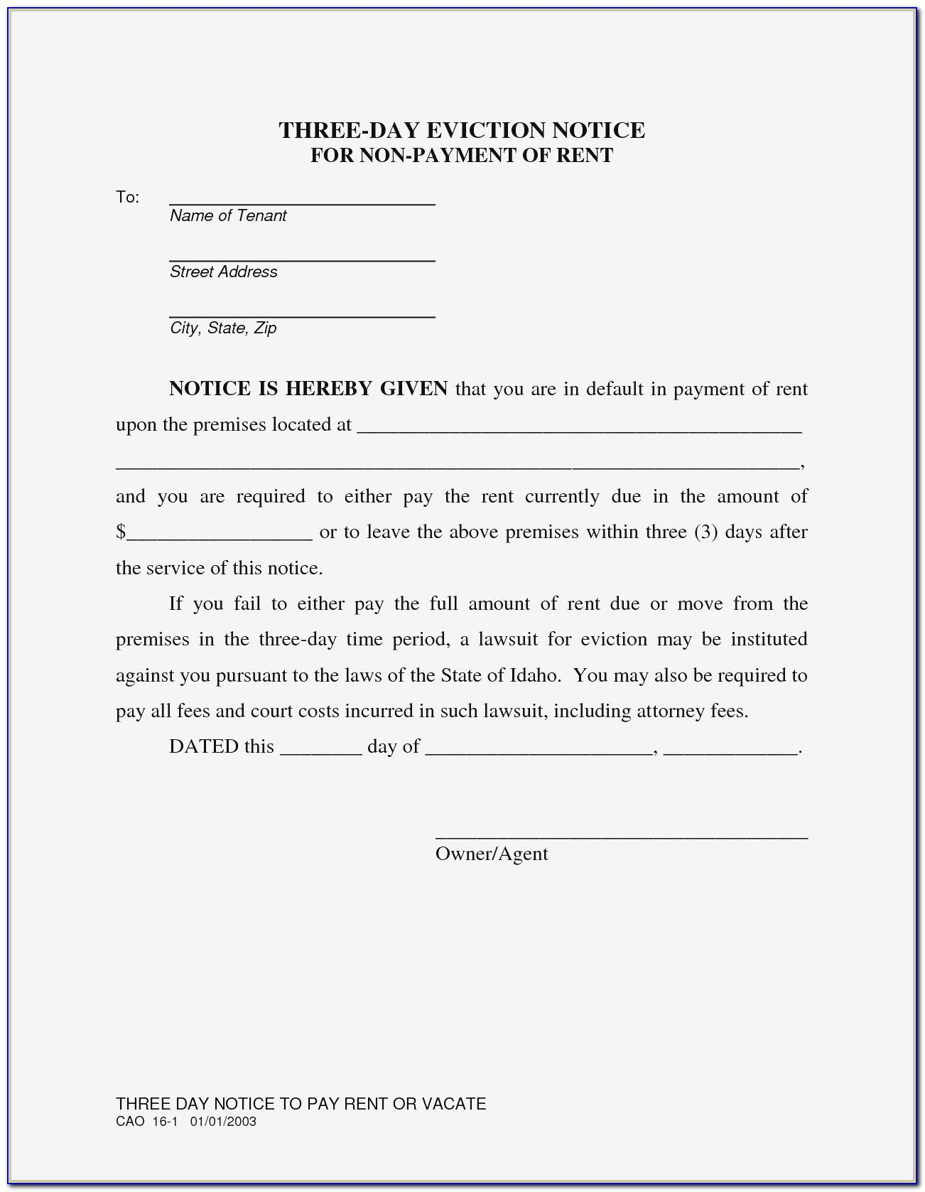 Notice To Vacate Template Nsw