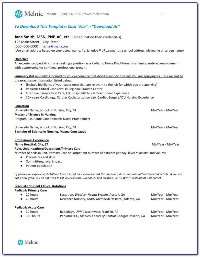 Nurse Practitioner Cv Sample